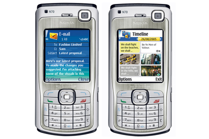 Смартфон Nokia N70 на базе S60 Second Edition