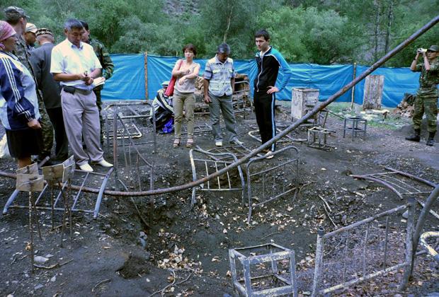 Родственники погибших пограничников на посту «Арканкерген»