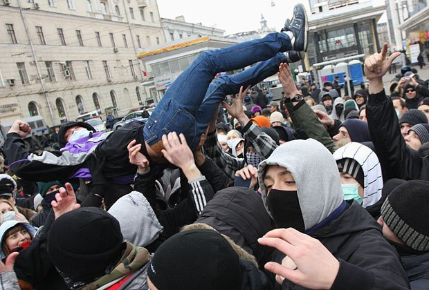 Акция «Русские против фашизма» на Чистопрудном бульваре, 4 ноября 2009 года