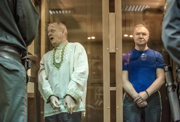 Владимир Квачков и Алексей Киселев во время оглашения приговора, 9 февраля 2013 года