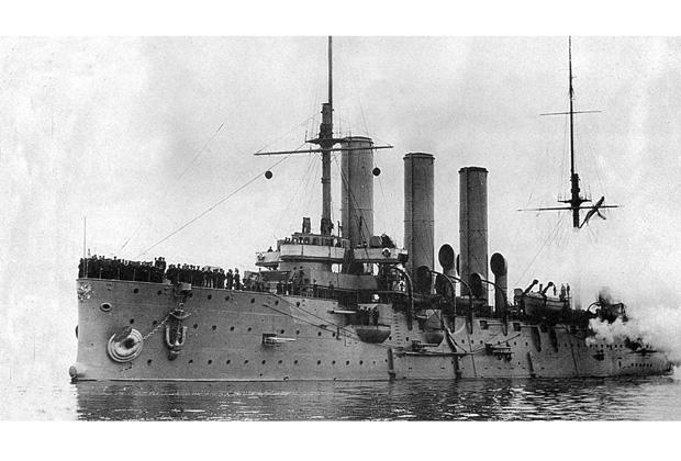 Крейсер «Диана» на учениях, 1908-1917 годы