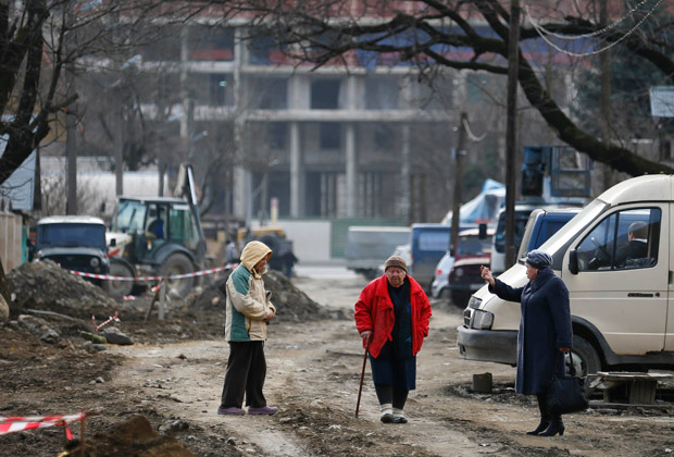 Жители Красной Поляны