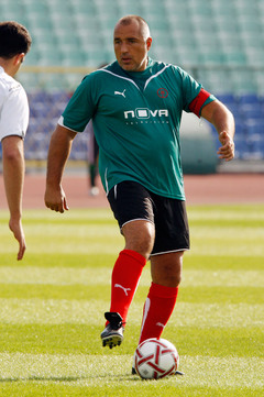 Бойко Борисов на футбольном поле