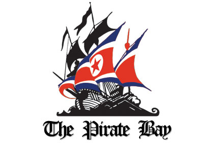 Флаг КНДР на логотипе The Pirate Bay