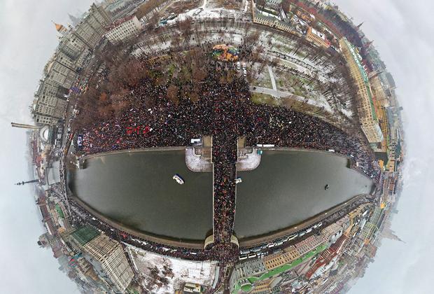 Панорама митинга на Болотной площади