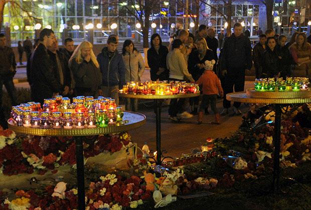Жители Белгорода на месте происшествия