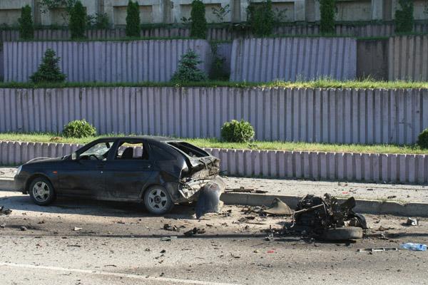 Последствия взрыва в Махачкале