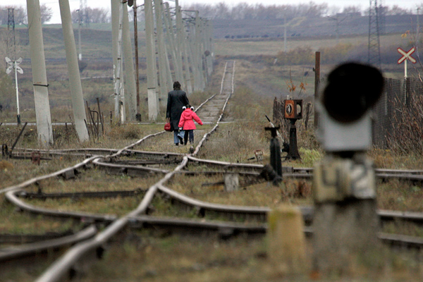 Железнодорожные пути рядом с армяно-турецкой границей