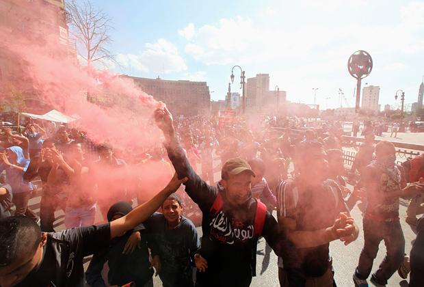 Демонстрации на площади Тахрир в Каире