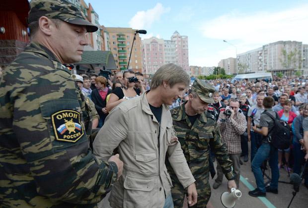 Задержание Николая Бондарика