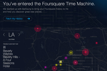 Скриншот Foursquare Time Machine