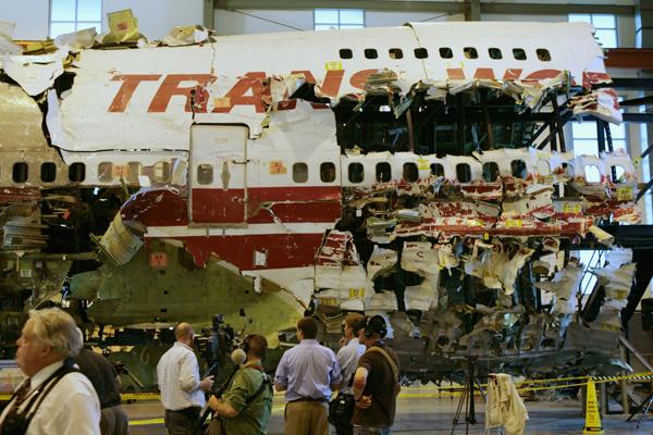 Обломки взорвавшегося Boeing 747-100