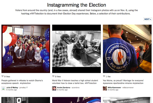 Проект Instagramming the Election