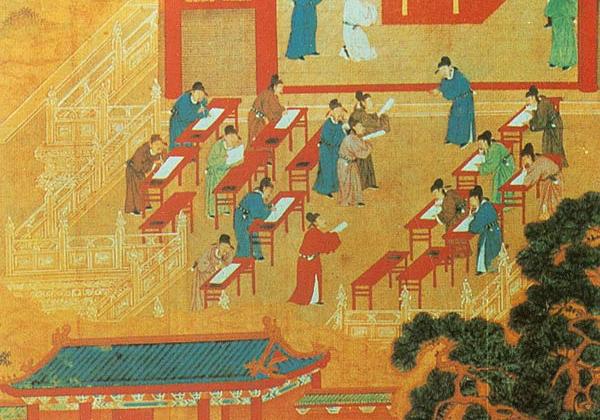 Экзамен для желающих стать чиновниками в Древнем Китае