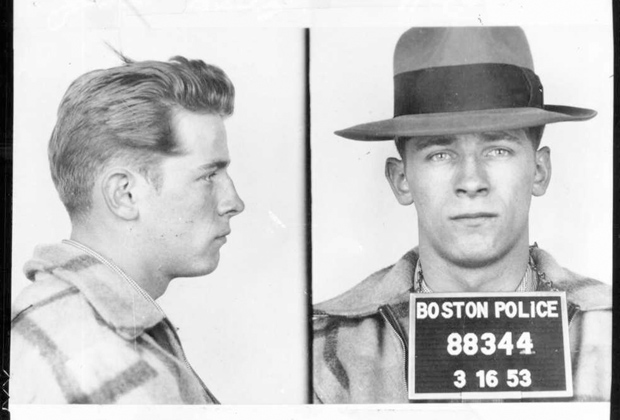 Фотография, сделанная в полиции после ареста Балджера в 1953 году.