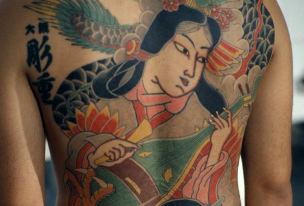 Татуировка на спине якудза