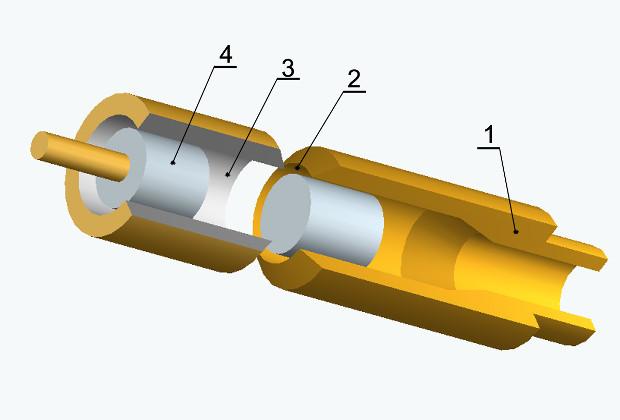 Схема свистка Гальтона с изменяемой частотой звука