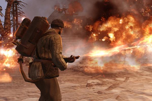Кадр из кат-сцены Company of Heroes 2
