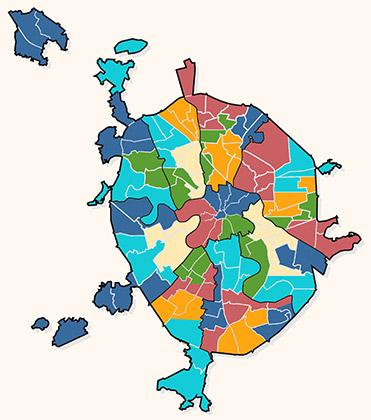 Избирательные округа на выборах в Московскую городскую думу III созыва 16 декабря 2001 года