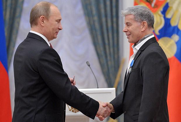 Владимир Путин и Олег Газманов