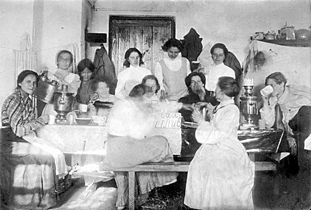 Заключенные революционерки в Мальцевской женской каторжной тюрьме