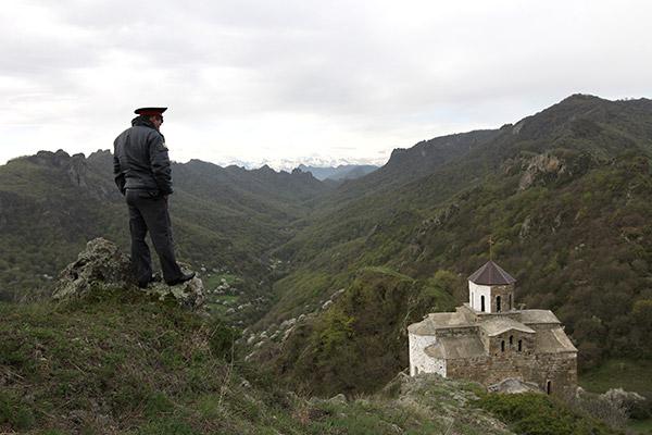 Раннехристианский храм X века на горе Шоана