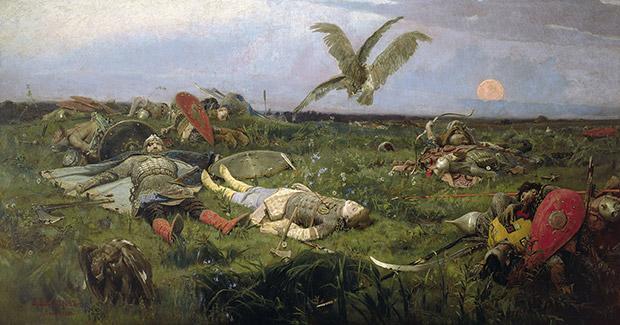 Картина Виктора Васнецова «После побоища Игоря Святославича с половцами» 1880 года