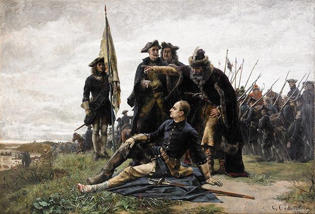 Картина Густава Седерстрема «Мазепа и Карл XII после Полтавской битвы»