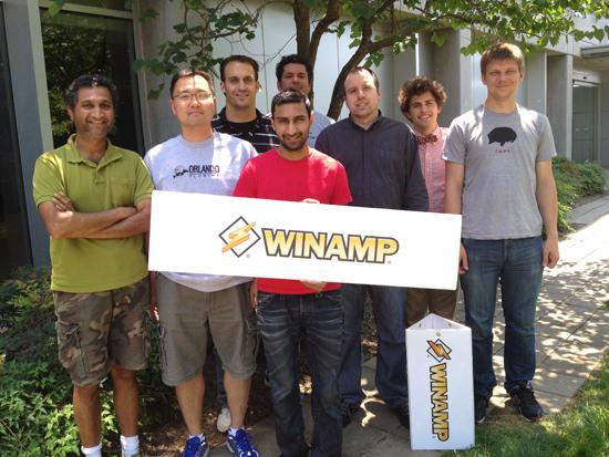 Команда разработчиков Winamp, 2012 год