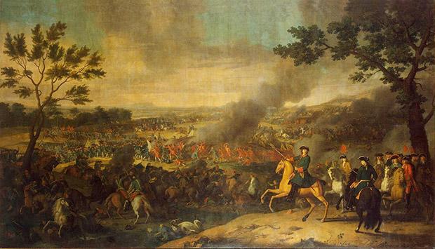 Картина Луи Каравака «Петр I в Полтавской битве»