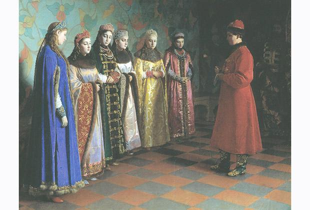 «Выбор невесты царем Алексеем Михайловичем». Григорий Седов. 1882 год