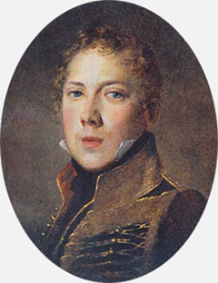 Петр Чаадаев в 1815 году