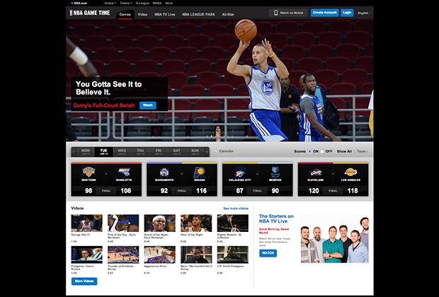 Скриншот сайта watch.nba.com