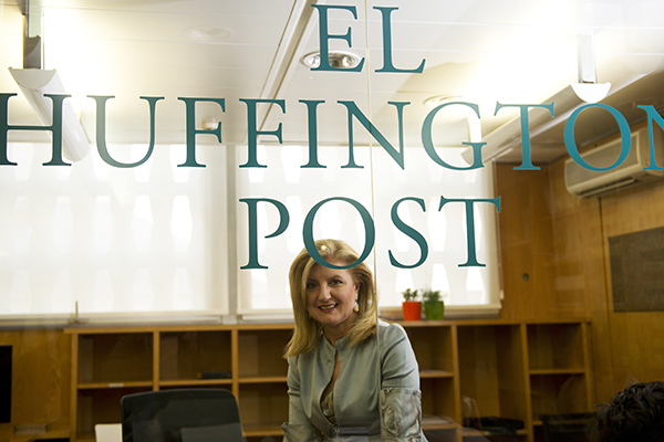Арианна Хаффингтон в редакции El Huffington Post в Мадриде