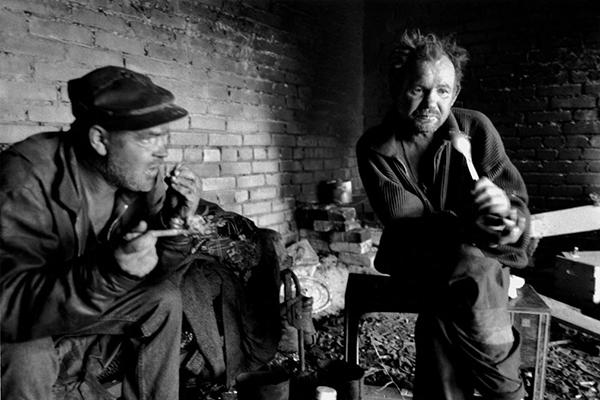 Бездомные в Кингисеппе, Ленинградская область, 2006 год