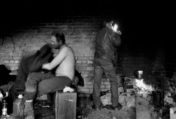 Бездомные в Кингисеппе, Ленинградская область, 2007 год