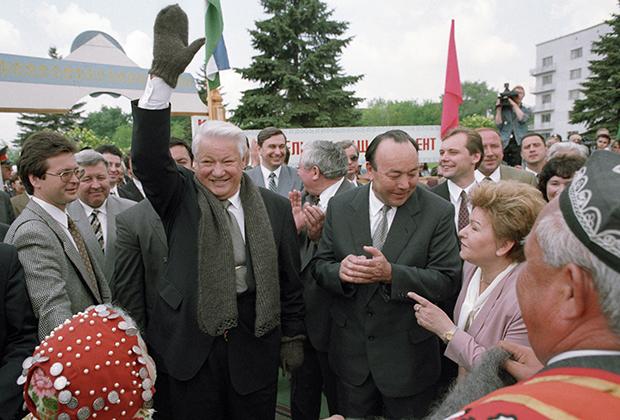 Борис Ельцин и Муртаза Рахимов