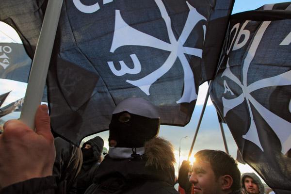 Участники движения «Русский образ» на Болотной площади в День народного единства. 2009 год