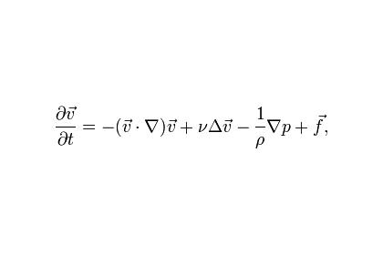 Часть уравнений Навье-Стокса для несжимаемой жидкости