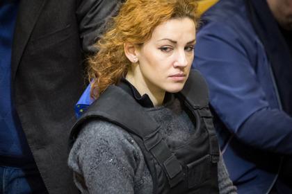Леся Оробец во время заседания Верховной Рады