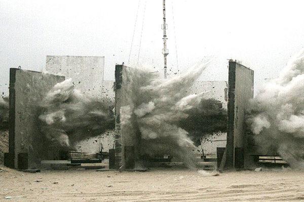 Испытание противобункерной бомбы MPR-500
