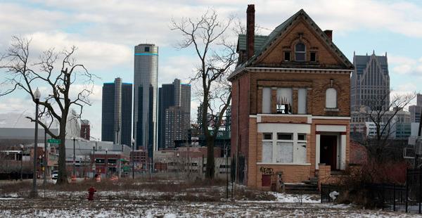 Пустующий дом в Детройте, США