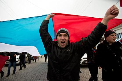 Митинг сторонников присоединения Крыма к России в Симферополе