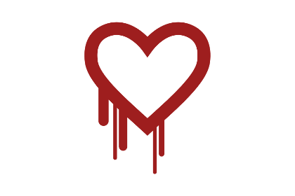 Логотип ошибки Heartbleed