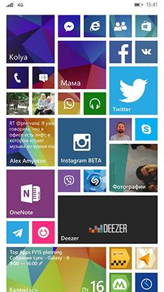 Интерфейс Windows Phone 8.1