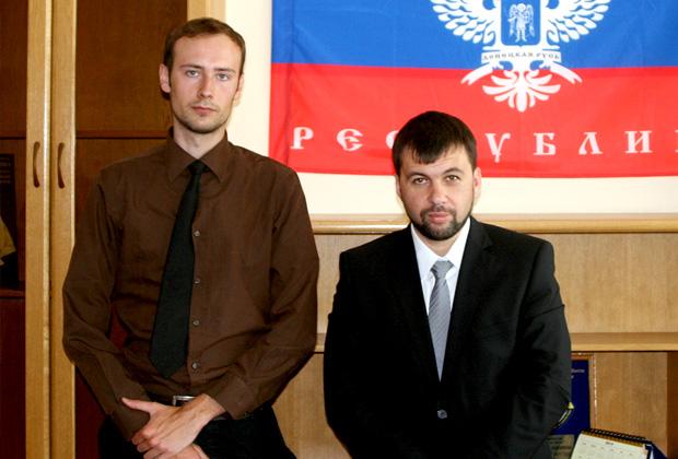Бартош Бекер (слева) и Денис Пушилин (справа)