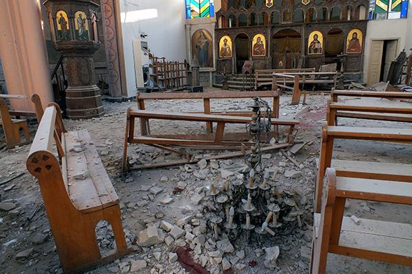 Разрушенная церковь в Сирии