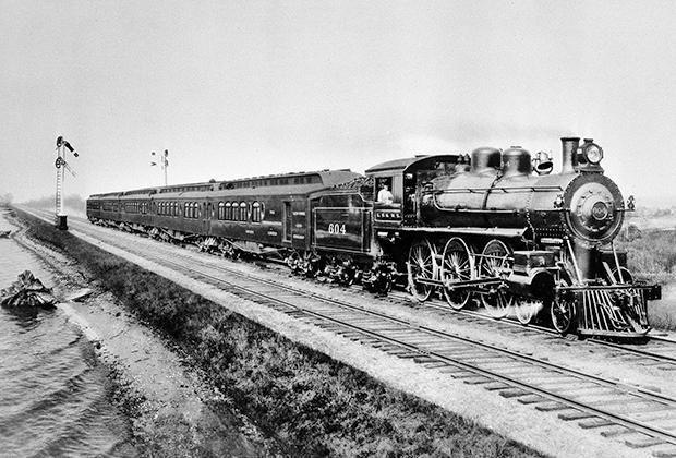 Поезд на железной дороге «Эри», 1902 год