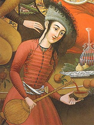 Юноша-виночерпий. Иран, XVII век