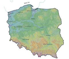 Карта Польши с указанием могил вампиров, упомянутых в статье